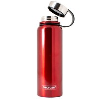 Neoflam All Day 1.2L Stainless Steel Double Walled and Vacuum Insulated Water Bottle Red Metal