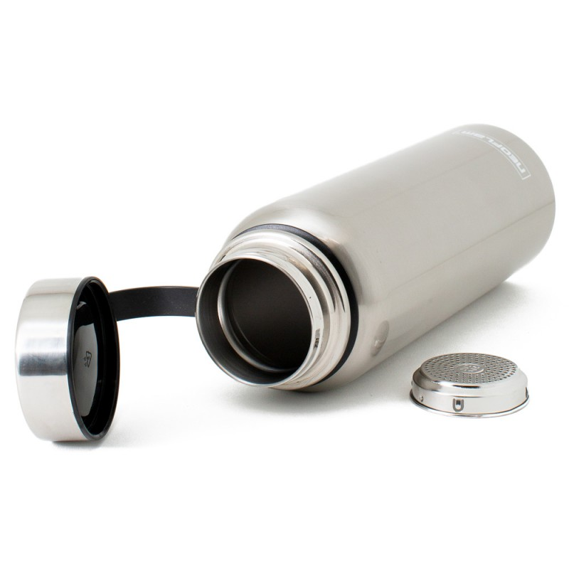 Neoflam All Day 1.2L Stainless Steel Double Walled and Vacuum Insulated Water Bottle Stainless Steel Metal