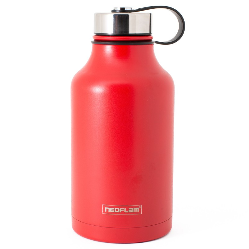 All Day S/Steel, Double walled and Vacuum Insulated Water Bottle 1.9L Red