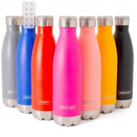 2 Random colours 500ml Stainless Steel Double Walled and Vacuum Insulated Water bottles