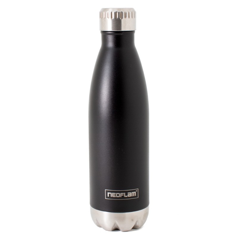 Neoflam Classic 500ml Stainless Steel Double Walled and Vacuum Insulated Water Bottle Black