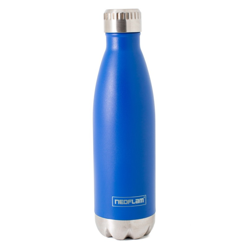Neoflam Classic 500ml Stainless Steel Double Walled and Vacuum Insulated Water Bottle Sky Blue