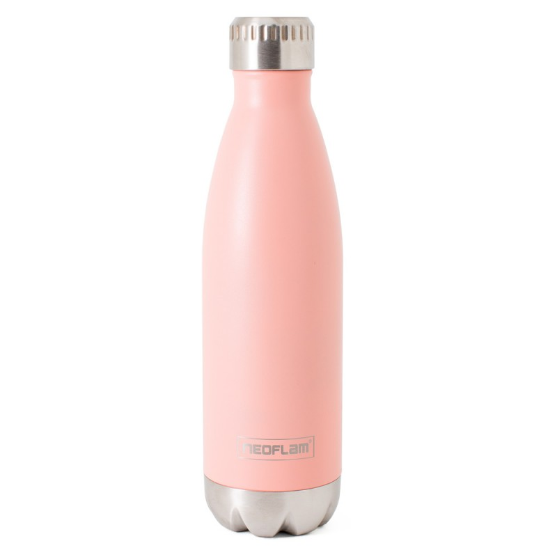 Neoflam Classic 500ml Stainless Steel Double Walled and Vacuum Insulated Water Bottle Coral