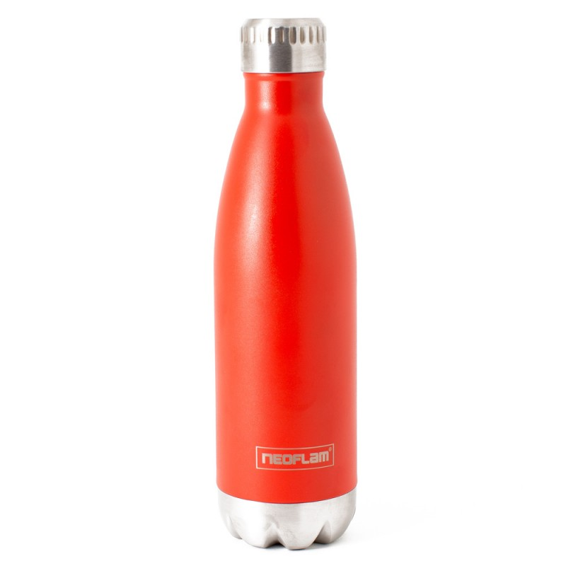 Neoflam Classic 500ml Stainless Steel Double Walled and Vacuum Insulated Water Bottle Red