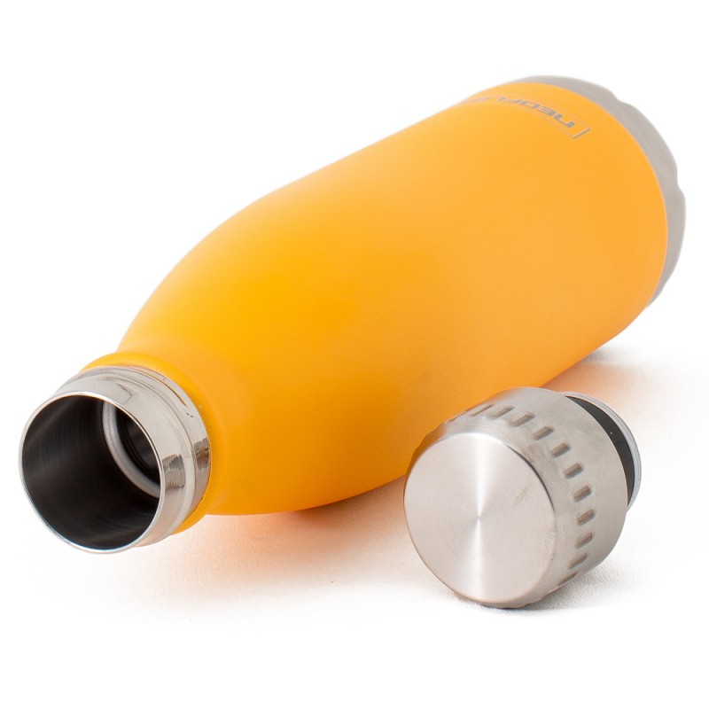 Neoflam Classic 500ml Stainless Steel Double Walled and Vacuum Insulated Water Bottle Yellow