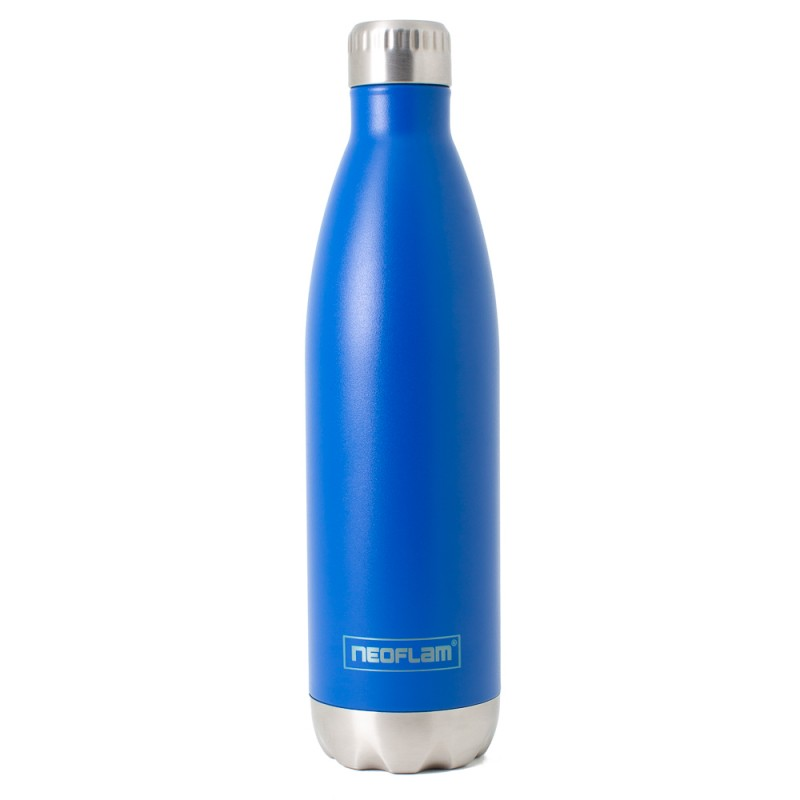Neoflam Classic 750ml Stainless Steel Double Walled and Vacuum Insulated Water Bottle Sky Blue