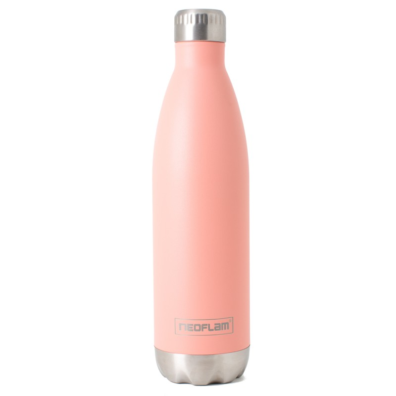 Neoflam Classic 750ml Stainless Steel Double Walled and Vacuum Insulated Water Bottle Coral