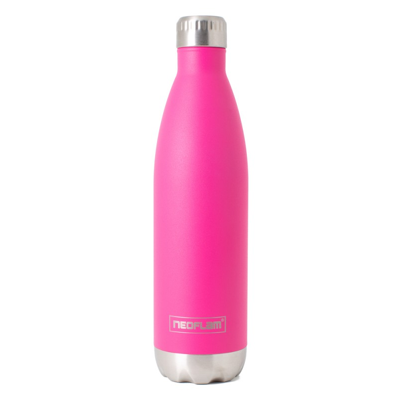 Neoflam Classic 750ml Stainless Steel Double Walled and Vacuum Insulated Water Bottle Pink