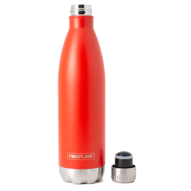 Neoflam Classic 750ml Stainless Steel Double Walled and Vacuum Insulated Water Bottle Mahogany