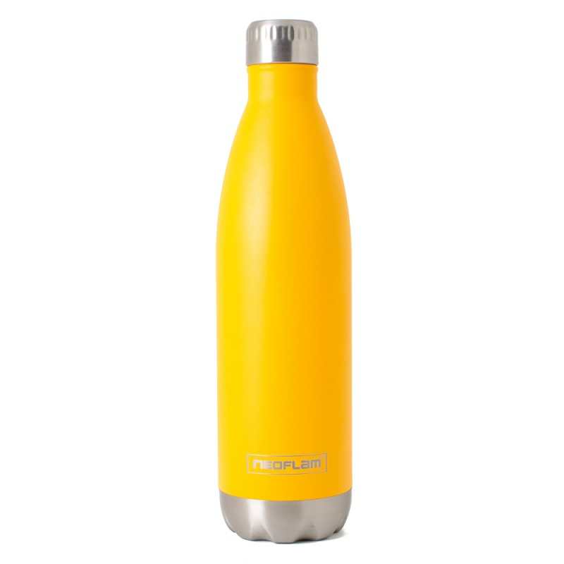 Neoflam Classic 750ml Stainless Steel Double Walled and Vacuum Insulated Water Bottle Orange