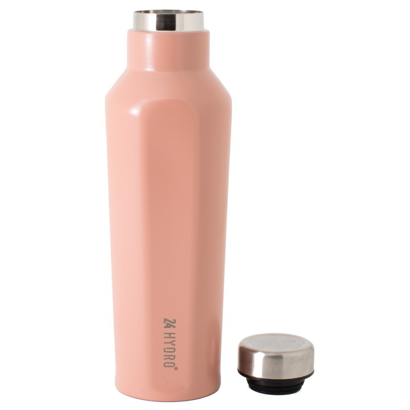 Neoflam Hydro24 500ml Stainless Steel Double Walled and Vacuum Insulated Water Bottle Sunset Pink