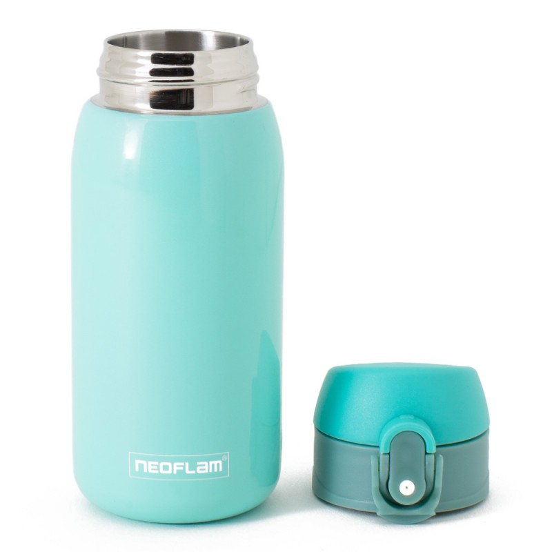 Neoflam Kids 320ml Stainless Steel Double Walled and Vacuum Insulated Water Bottle Blue Metal