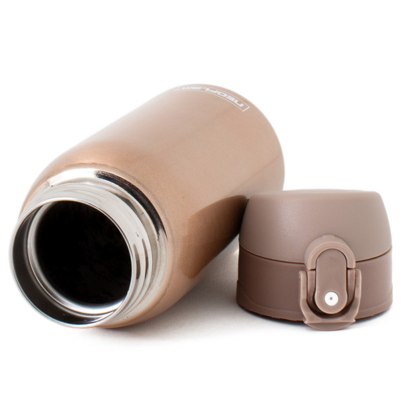 Neoflam Kids 320ml Stainless Steel Double Walled and Vacuum Insulated Water Bottle Bronze Metal