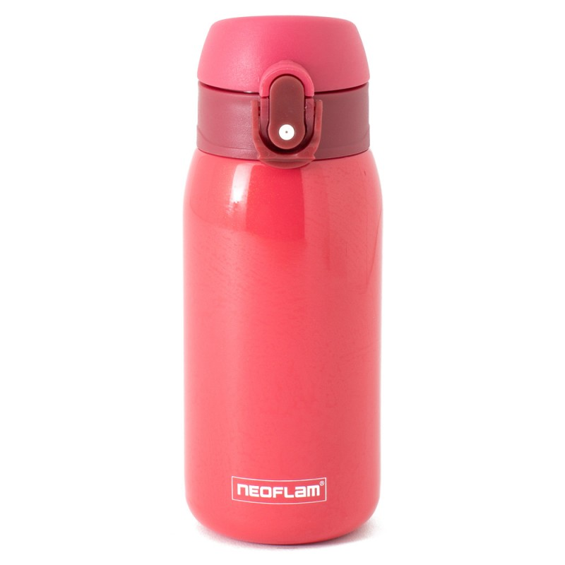 Neoflam Kids 320ml Stainless Steel Double Walled and Vacuum Insulated Water Bottle Red Metal