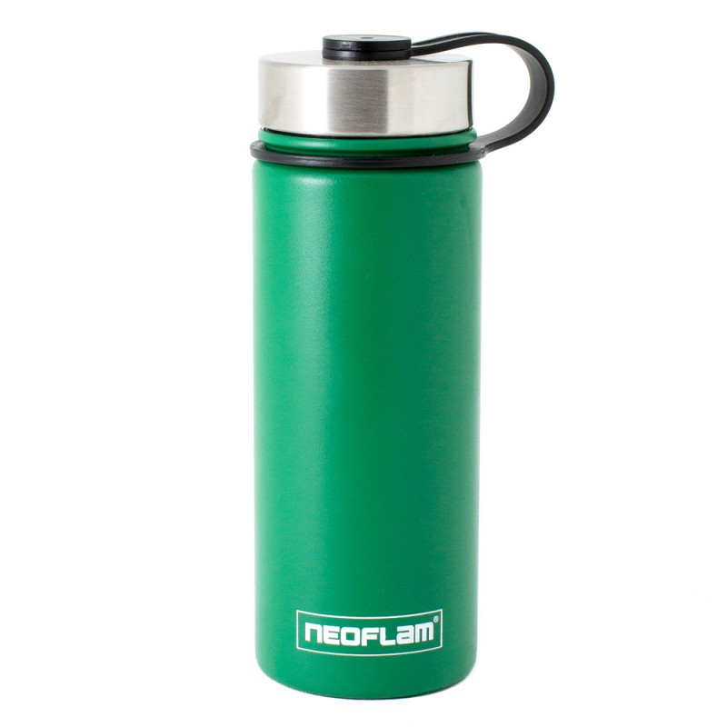 Neoflam Skinny 500ml Stainless Steel Double Walled and Vacuum Insulated Water Bottle Green