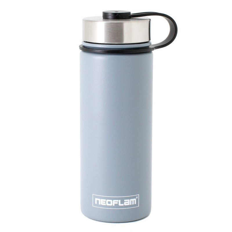 Neoflam Skinny 500ml Stainless Steel Double Walled and Vacuum Insulated Water Bottle Grey