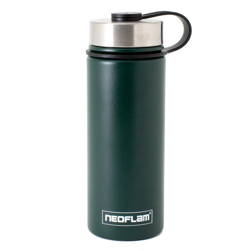 Neoflam Skinny 500ml Stainless Steel Double Walled and Vacuum Insulated Water Bottle Green Jade