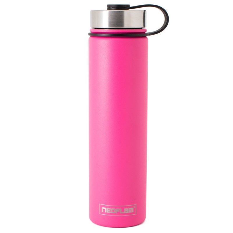Neoflam Skinny 750ml Stainless Steel Double Walled and Vacuum Insulated Water Bottle Pink