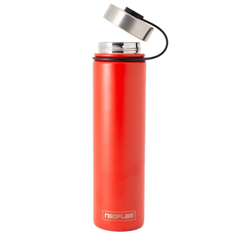 Neoflam Skinny 750ml Stainless Steel Double Walled and Vacuum Insulated Water Bottle Mahogany