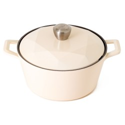 Neoflam Carat 24cm Casserole Non-Induction with Die-Cast Lid Ivory ** Online Exclusive **