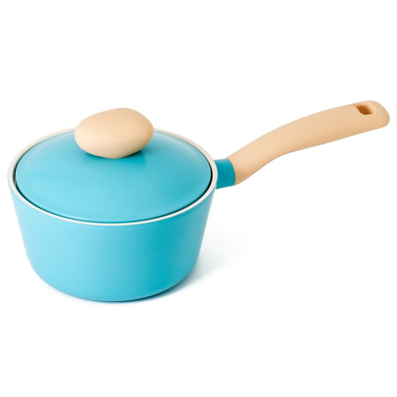 Neoflam Retro 18cm Sauce Pan Induction with Die-Cast Lid Mint